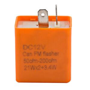 2-Broche-12v-relais-clignotant-de-Moto-Vitesse-reglable-led-clignotant-Auto-BA