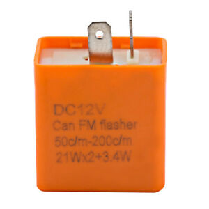 2-Broche-12v-flash-relais-clignotant-Moto-Vitesse-reglable-led-clignotant