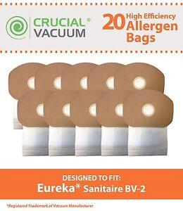 20-Replacements-Eureka-PowerFlite-6QT-PF300B-Sanitaire-BV-2-Bags-Part-62370