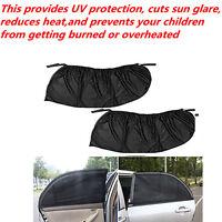 2x Car Rear Window Foil Sun Visor Shade Mesh Cover Shield Sunshade UV Protector