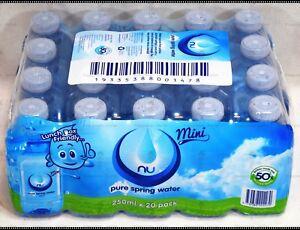 80d23d8351 NEW Nu-Pure Australian Spring Water 20 x 250ML Mini Bottle Bulk Pack ...