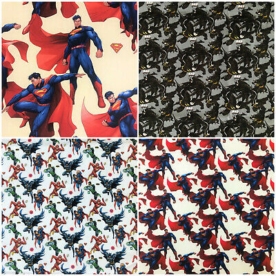 BATMAN SUPERMAN marvel DC superhero 100/% cotton fabric 140cm wide
