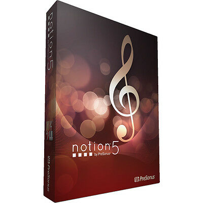 Presonus Notion 6 Music Notation Composition Software *BRAND NEW IN BOX*