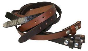 Fronhofer Estrecho Cinturón 2cm Búfalo Cinturón sin Hebilla, Botón a Presión, A
