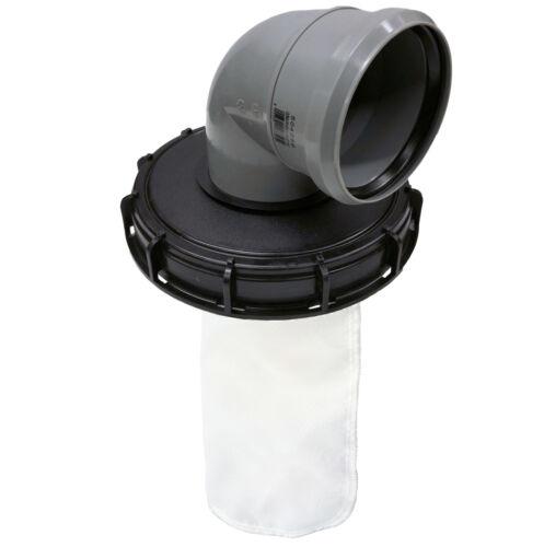 IBC Deckelfilter Regenwasserfilter Nylon DN 225 HT Bogen 89° DN 110