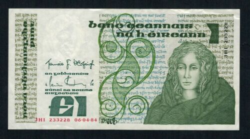 Old Irish Banknote 1 Pound Pound Punt Series B Various dates available