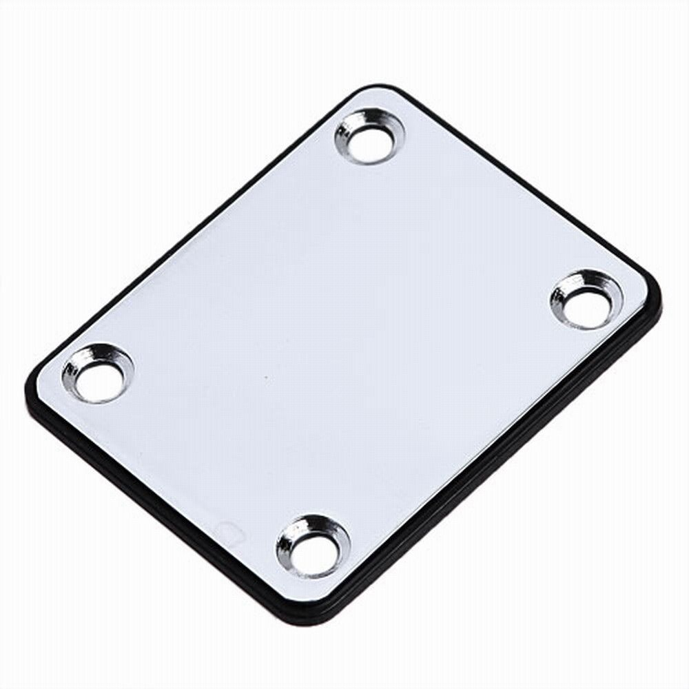 1 set chrome neck plate and screws for fender guitar parts replacement 634458304177 ebay. Black Bedroom Furniture Sets. Home Design Ideas