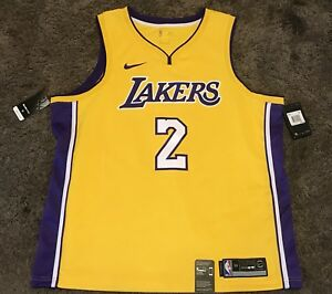 best service 3e733 97fcc Details about BRAND NEW WITH TAGS NIKE LAKERS LONZO BALL SWINGMAN YELLOW  JERSEY 2 2XL 56