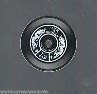 BHUTAN 7 NGULTRUM 1973 PHONOGRAPH RECORD AS STAMP MINT SCARCE UNUSUAL STAMP