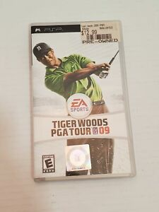 Tiger Woods PGA Tour 2009 PSP Video Game Case Disc Manual EA Sports Sony