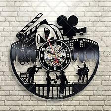 Cinema Theatre customized sign home movie theater vinyl wall decor mural Clock