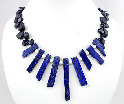 Raw lapis lazuli Necklace Ladies Handmade Natural Jewellery N10003