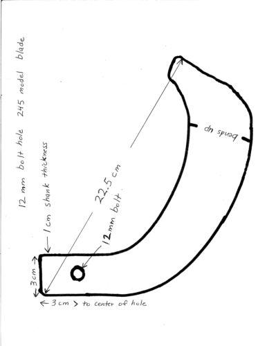 IGQN rotary tiller tines or blades for tractor tiller uses 12 mm bolt