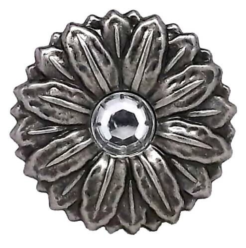 """Concho Synthetic Crystal 2/"""" Antique Silver Screwback 2909AN by Stecksstore"""
