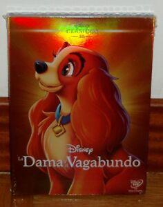 LA-DAMA-Y-EL-VAGABUNDO-CLASICO-DISNEY-N-15-DVD-NUEVO-PRECINTADO-FUNDA-DE-CARTON
