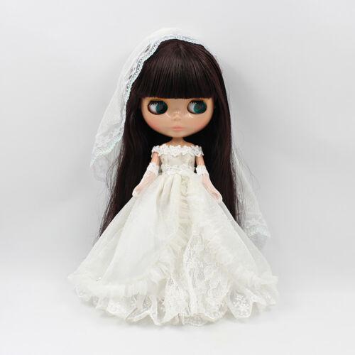 "12/"" Blythe Doll Factory  Blythe/'s Purely White Wedding Dress Outfit JS03"