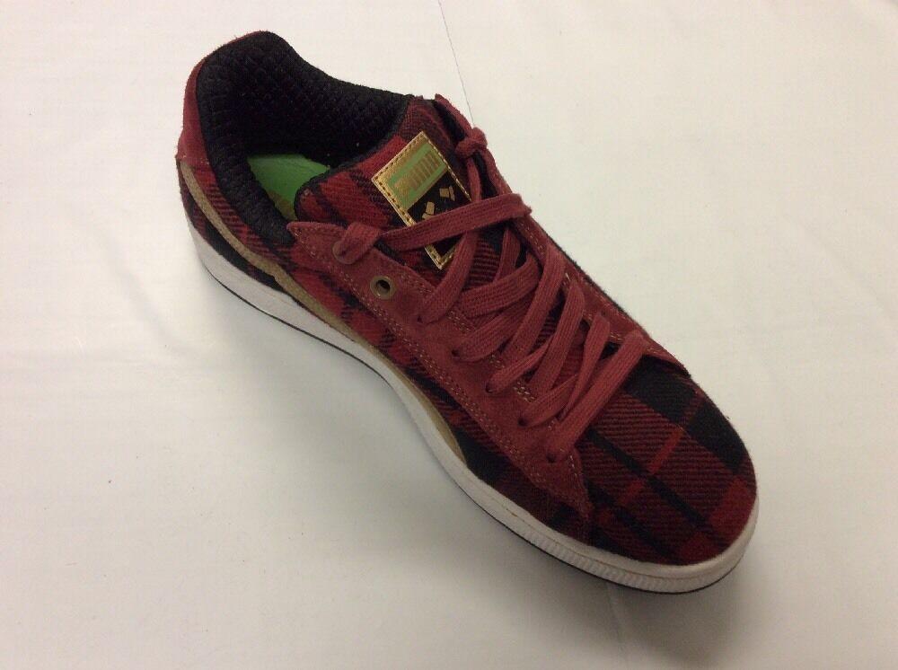 PUMA   Basket II Flannel   rosso nero    Mens 10.5p