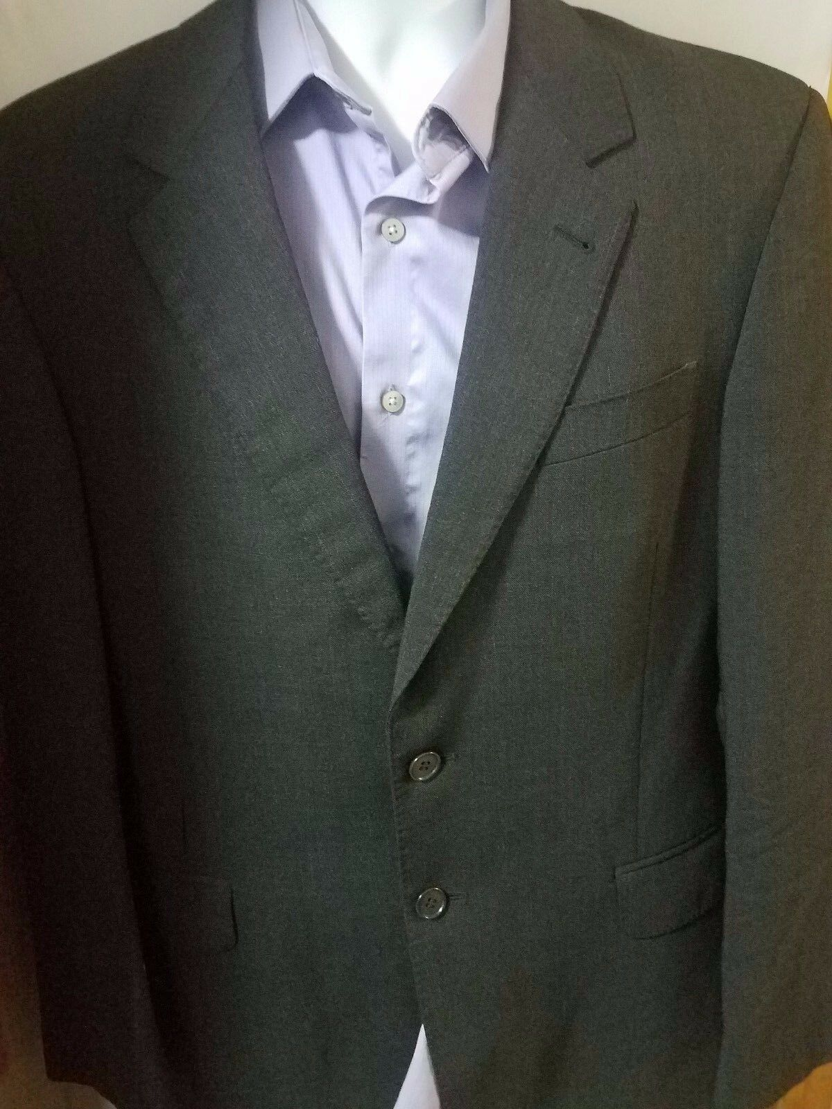 Paul Smith Charcoal Wool Sport Coat Blazer Size 40 R - Made in