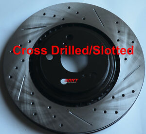 Fits-RX350-Sienna-Highlander-Slotted-Or-Cross-Drilled-Rotors-Akebono-Pads-Rear