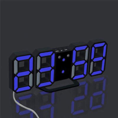 Super Modern Digital LED Table Night Wall Clock Alarm Watch 24/12 Hour Display