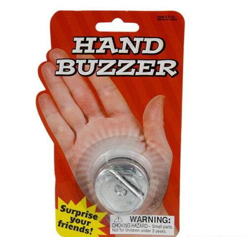 1 METAL HAND BUZZER GAG GIFT PRANK BUZZ TOY PARTY FAVOR CARNIVAL GOODY BAG