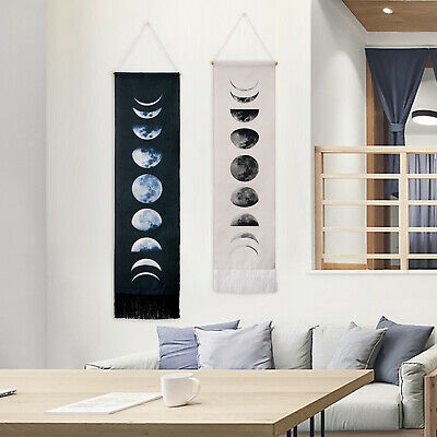 USA Wall Art Gifts Moon Phase Tapestry Lunar Display Wall Hanging Art Room Decor