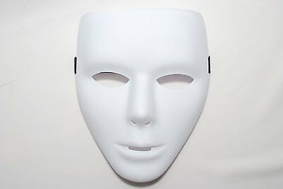Men's Mask Blank Male Mask Cosplay Mask White - JAPAN
