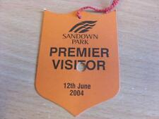 12/06/2004 Sandown Park Races - Horse Racing Badge (good condition with no appar