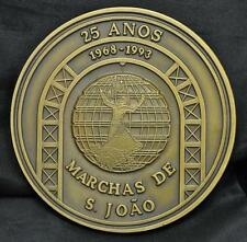 1993 Marchas de S. Joao 25th Anniversary Medal, 90 mm