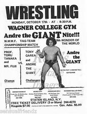 Professional Wrestling Poster Andre The Giant Vintage Staten Island 8x11 sm