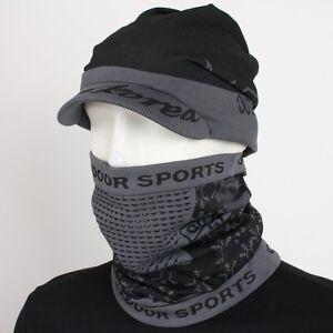 SNK Cap & Neck Gaiter Set Ski Balaclava Hood Neck Face Full Mask Snowboard Head