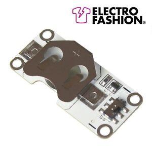1X-Electro-Fashion-Luz-Sensor-Pila-de-Boton-Soporte-Textiles-Electronicos