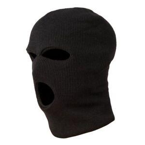 3-Trous-Masque-Cagoule-de-Police-Couleur-Noire-Police-Swat-Gign-Raid-C3F5