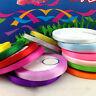 """25 Yards 1/4""""(6mm) DIY Bows Satin Colorful Ribbon Wedding Party Craft Hair Bow"""