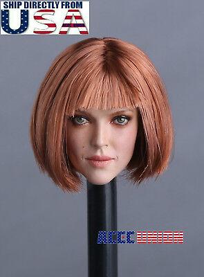 """1//6 Female Head Sculpt D cheveux court pour 12/"""" PHICEN TBLeague Hot Toys figure USA"""