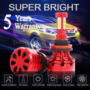 H11 LED Headlight 6000K 2018 1500W 225000LM 4-Side Kit Low Beam Bulbs High Power