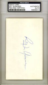 Rey Quinones Autographed Signed 3x5 Index Card Boston Red Sox PSA/DNA 83936212