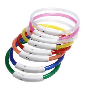 30cm-70cm-Leuchtband-LED-USB-Akku-Leuchthalsband-Sicherheit-Hundehalsband