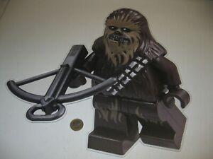 PLV-PUBLICITE-LIEU-de-VENTE-LEGO-STAR-WARS-CHEWBACCA-arme-PUB-de-magasin