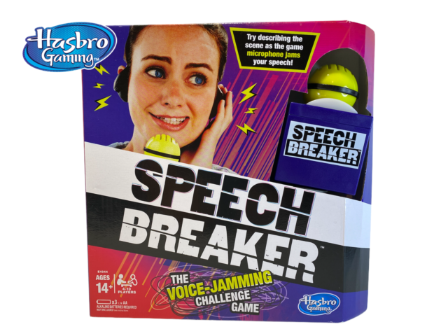 Hasbro Speech Breaker Game by Hasbro Gaming  - The Voice-Jamming Challenge Game!