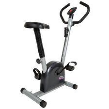 Fitness Fahrrad Hometrainer Heimtrainer Cardio Ergometer Bike Trimmrad silber