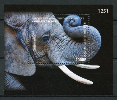 Niger 2017 MNH African Bush Elephant Animals of World 1v M/S Elephants Stamps