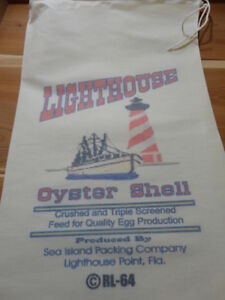 Rl 64 Lighthouse Oyster Shell Flour Bag Sack Feed Seed Novelty