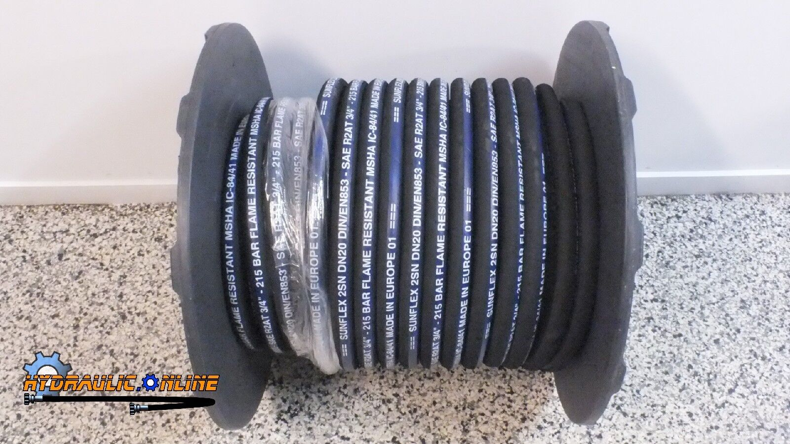 """Hydraulic Hose 3//4/"""" Two Wire 5 Meters SAE100R2-12 MSHA EUROPEAN MADE 3118 PSI"""