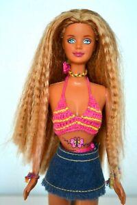 Papillons-Art-Barbie-Poupee-1990-039-s-Vintage-Parfait-Original-Accessoires