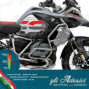 2 Adesivi Fianco Serbatoio Moto Bmw R 1250 1200 Gs Adventure Big Logo Red Black à Tout Prix