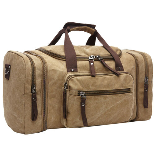Vintage Canvas Duffle Bag Holdall Large Travel Outdoor Weekend Overnight Tote