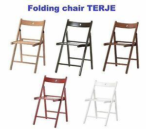 Ikea Easy Storage Folding Wood Chair Terje Camping Outdoor