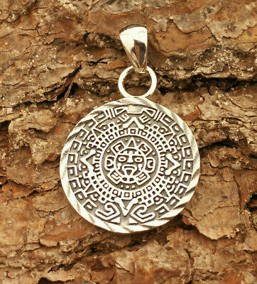 Anhänger Amulett MAYA Design 925 Sterling Silber  SAMY1