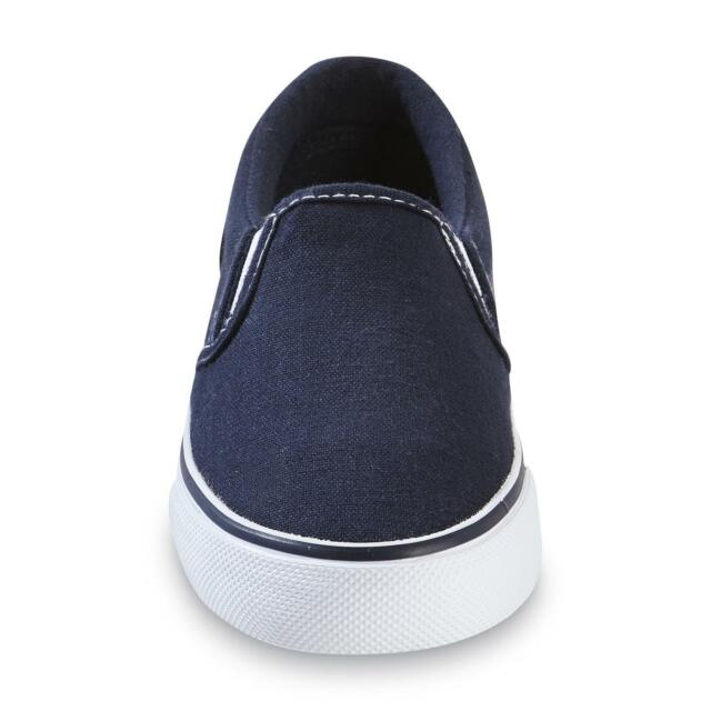 Pick your Size Joe Boxer Toddler Unisex Replay Navy Canvas Deck Slip-On Shoes